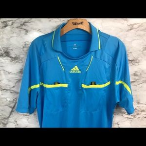 Adidas MLS Soccer Referee Jersey Large Blue Yellow
